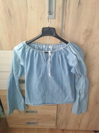 Blusa mesonera denim
