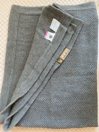 Manta bugaboo original gris de lana. IMPECABLE