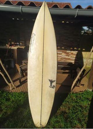 """Tabla de surf Hexcel 6,6"""" con quillas y funda"""
