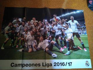 4 POSTERS Real Madrid Tamaño 84x59.5 cms
