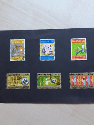 6 sellos de Malaysia