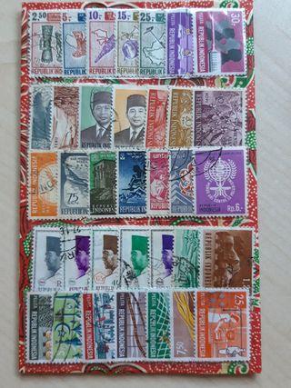 50 sellos de Indonesia