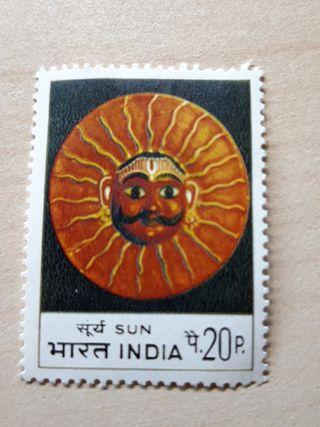 Sello India Sun 20p.