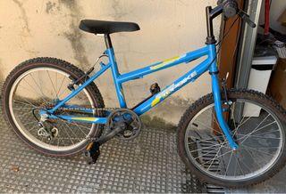 Bicicleta infantil azul rueda 20'