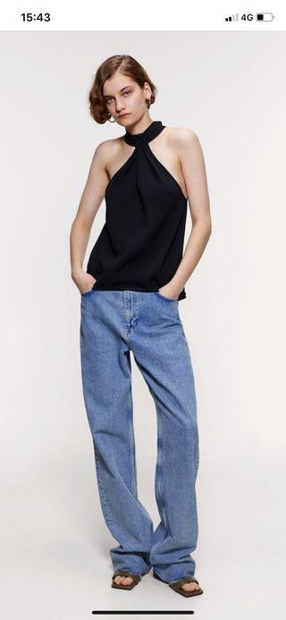 Top cuello halter Zara - M