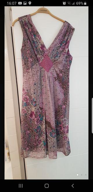 vestido gasa estampado