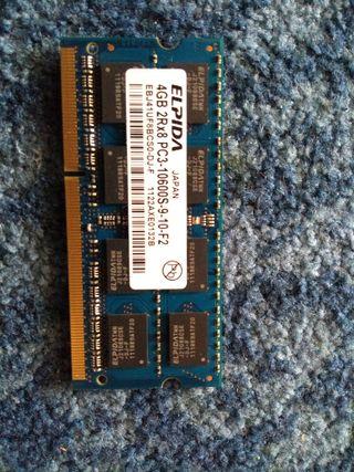 MODULO RAM 4GB DDR3 PARA PORTATIL ELPIDA