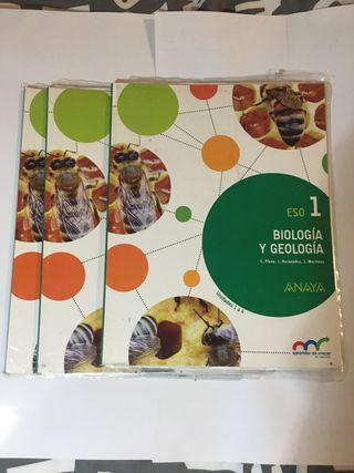 Libros de biología 1 ESO Anaya