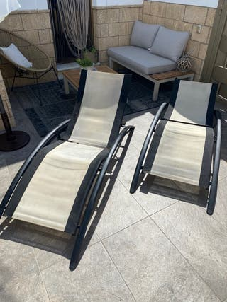 Hamacas - tumbonas jardín terraza piscina