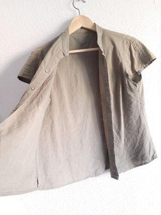Camisa manga corta caqui safari t 42
