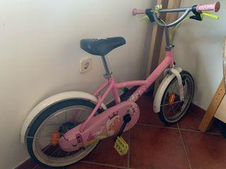 Bicicleta 16 pulgadas princess rosa