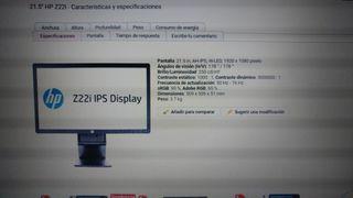 """Monitor Hp 21.5"""" Z22i IPS Display"""