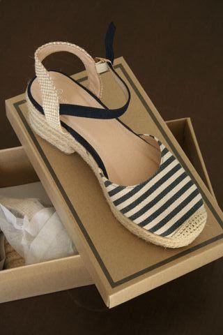 Zapatos alpargatas con tacon