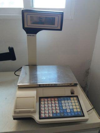 Báscula y cajón de dinero