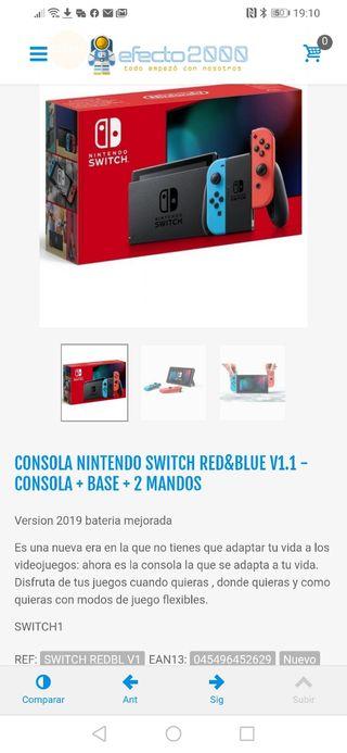 Nintendo switch como nueva con dos mandos