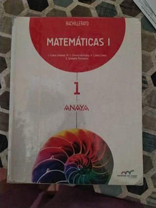 Libro matemáticas 1° Bach Ies Libertad