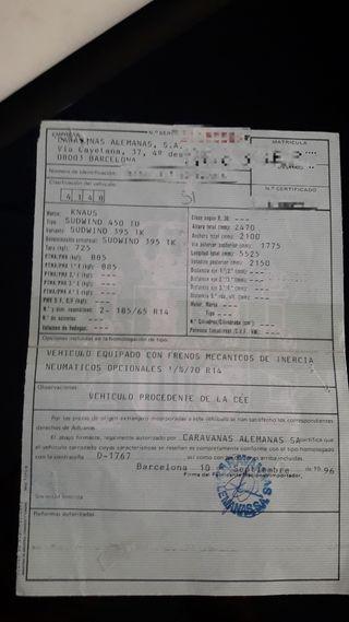 CARAVANA KNAUS SUDWIND 395TK