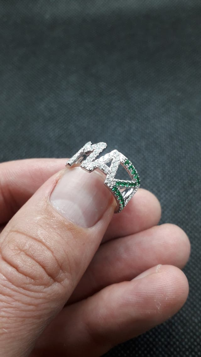 AMAZING Nano Simulated Emerald Ring