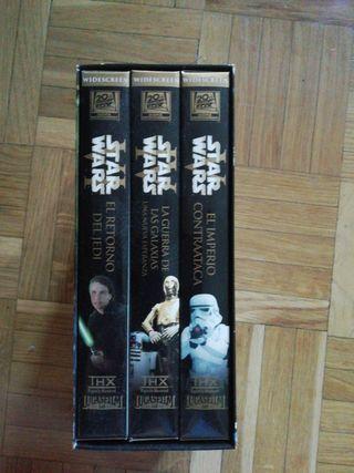 VHS Trilogía Star Wars
