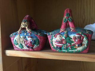 Adornos de navidad cerámica
