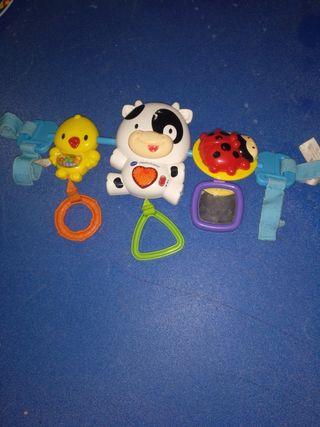 juguetes para el carro coche y hamaca musical