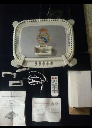 Radio reloj despertador con alarma y altavoces