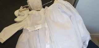 vestido de bautizo niña regalo zapatos talla 18