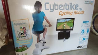 Bicicleta estática cyberbike+DVD videojuego