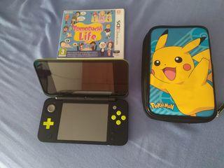 Nintendo 2 Ds Xl + 2 Juegos + Funda