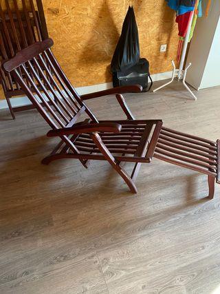 Tumbona reclinable y plegable