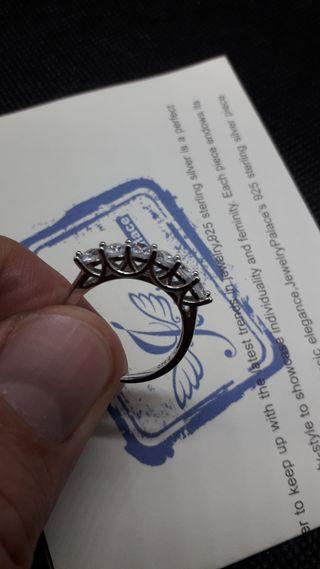 CZ Wedding Ring 925 Sterling Silver Ring