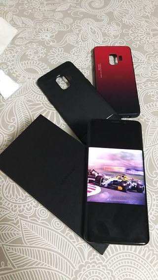 Samsung Galaxy S9 64gb DUOS + caja fundas