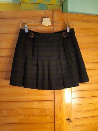 Falda plisada pull&bear talla L