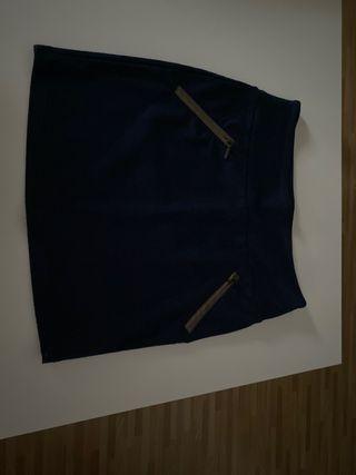 Falda Azul Stradivarius