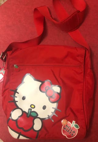 Mochila bandolera hello kitty