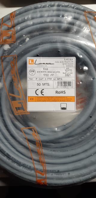 Cable datos FTP CAT6. 45 metros.