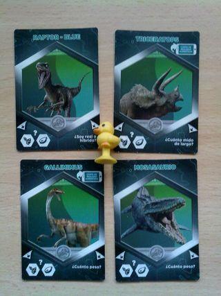 Cromocartas Jurassic World cards