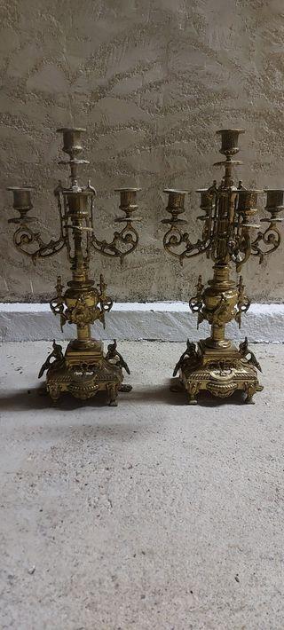 Candelabros bronce