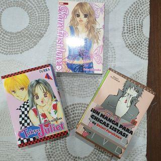 coleccion manga varias incompleta romantica