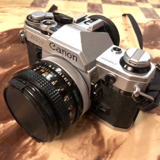 Cámara Canon AE-1 (35mm) con objetivo 50mm