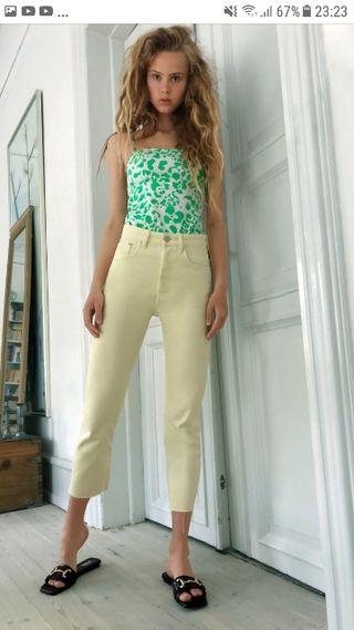 Jeans amarillo zara