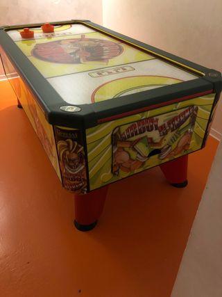 maquina recreativa de aire, air hockey, mesa de ai