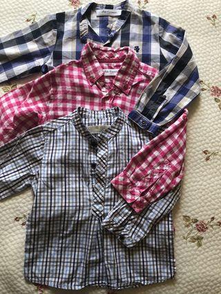 Lote 3 camisas de verano de manga larga marcas