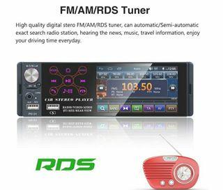radio con pantalla táctil mando y cámara trasera