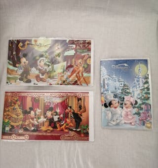 Postales Navidad Disney Mickey Disneyland París