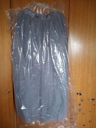 Falda de tul Azul grisáceo talla M/L