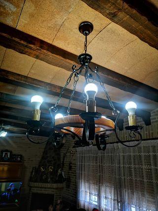 Lampara rustica 5 bombillas