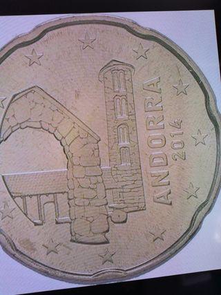 Andorra moneda de 20 céntimos año 2014