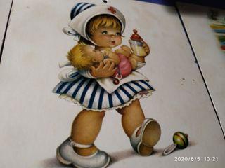 album con cabezal de calendarios infantiles 1945