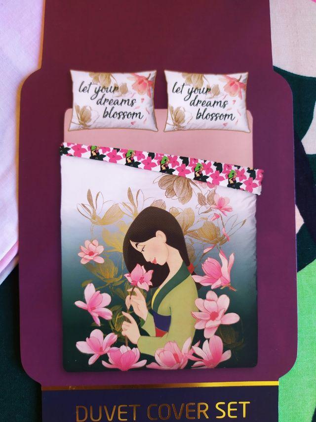 Conjunto funda nórdica Mulán Disney cama doble